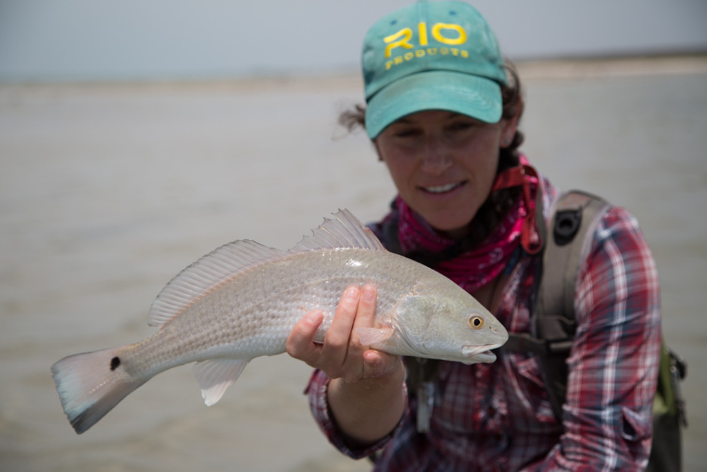 Aimee with the biggest DIY redfish we caught!